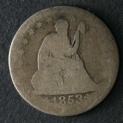 1853-O Seated Liberty Quarter Great Deals From The TECC Bargain Bin