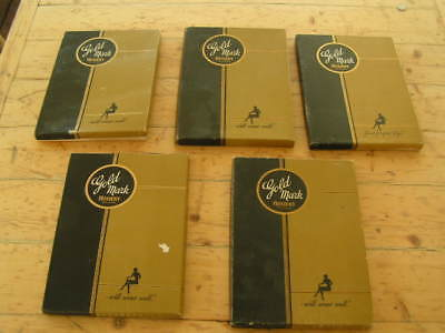 Vintage Gold Mark Hosiery 5 In Box Pantyhose Stockings NEW OLD STOCK 40's 50's