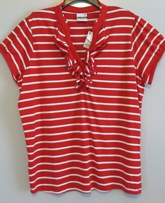 """NWT Southpole Red & White Stripe """"Angel of Love"""" Cap-Sleeve Top Size 2X"""