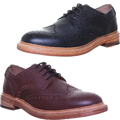 Justin Reece Good Year Welted Lace up Brogue Leather Sole Shoe Size UK 6 - 12