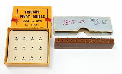 VINTAGE TRIUMPH .004 to .026 and MASCOT .28 to 50 PIVOT DRILLS - BX742