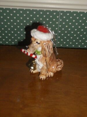 Westland-Top Dogs-Caboose- The Long Haired Dachshund-Ornament.-Mib