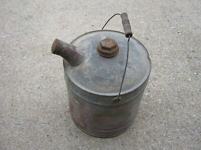 Vintage Kerosene Oil Can Gas Can Metal Can good decor only 5 gallons