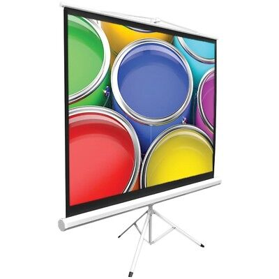 "Pyle 50"" Video Projector Screen, Easy Fold-Out Projection Display, Tripod"