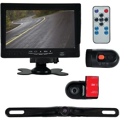 "Pyle Dash Cam Vehicle Driving Video Camera & Monitor System Kit, 7"" Display"