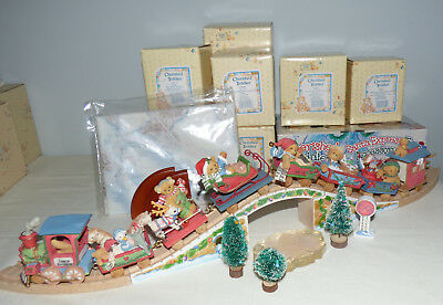 New in Boxes Cherished Teddies Santa Express Train Set 21 Pieces incl. Acc.