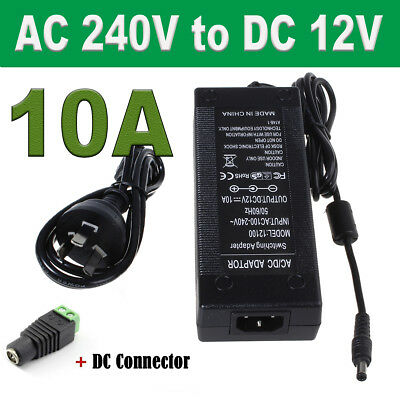 DC 12V 10A 120W Power Supply Adapter Charger Converter Transformer FOR LED Strip