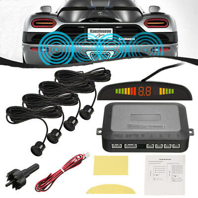 Reversing Car Parking Radar Sensor Vehicle 4 Sensors Audio Buzzer Alarm System
