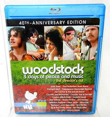 2E WOODSTOCK 3 DAYS OF PEACE AND MUSIC BLU-RAY Director's Cut 40th Annv. DVD