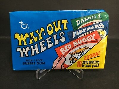 Scanlens, Topps Way-Out-Wheels Unopened Full Pack