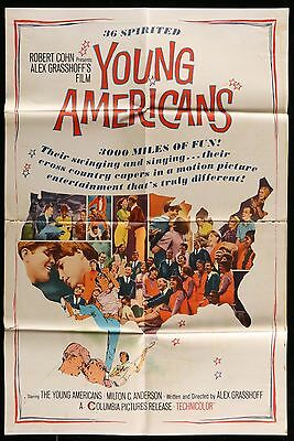 1967 YOUNG AMERICANS Diane Adams,  Phil Aubry ORIGINAL 1 ONE SHEET MOVIE POSTER