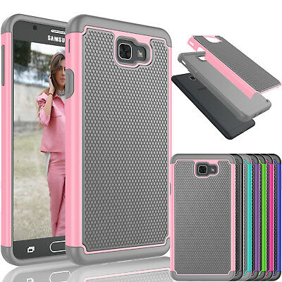 For Samsung Galaxy J7 Sky Pro / J7 2017 Shockproof Bumper Rubber Hard Case Cover