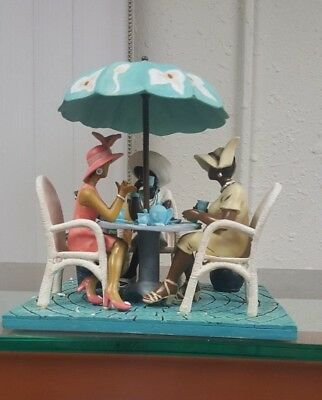 Annie Lee Figurine Tea Time/African American Art/Black Americana Liquidation