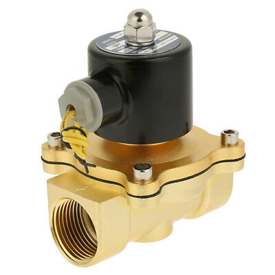 """DC 12V 1"""" inch Brass Normally Closed Electric Solenoid Valve Magnetic Air Water"""