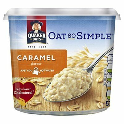 Quaker Oat So Simple Caramel Flavour Porridge Pot, 57 g, Pack of 8