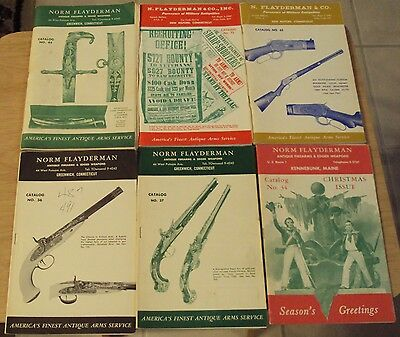"""1960's LOT ANTIQUE Firearms/Edged Weapons CATALOGS~""""Norm FLAYDERMAN""""~Christmas~"""