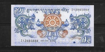 Bhutan #27 2006 Unused Mint Ngultrum Banknote Bill Note Currency Money