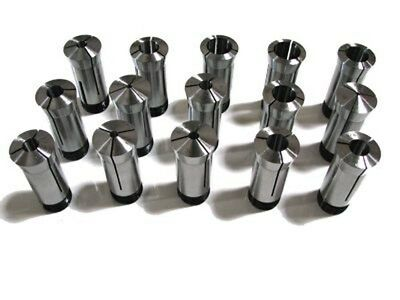 """8 Pc 5C Round Collets Set 1/8"""" - 1"""" By 1/8"""" Collet"""