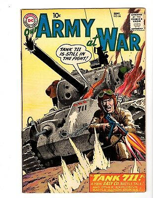 OUR ARMY AT WAR #86 VF+ (1959) (B) (Early Sgt. Rock; Kubert Art)