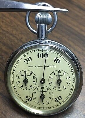 Vintage 1950's Edwin Gerard Boy Scout Special Stop Watch