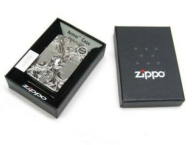 Zippo Full Size Black Ice Chrome Crystal Lattice Windproof Lighter 28956