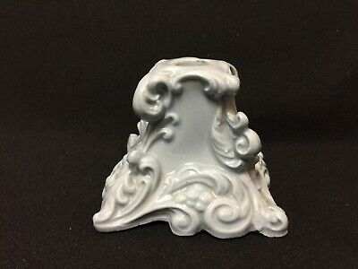 Vintage! Beautiful Fancy French Blue Ceramic Taper Candleholder FS