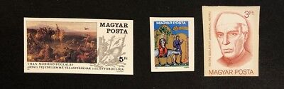 Hungary Scott No. 3206,3207,3208 MNH Imperforate Imperf Imp Stamps of 1989