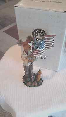 Boyds by Enesco~Moose Troop~BENNY B. PROUD w/Lil Ted..I Pledge Allegiance~NEW~1E