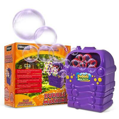 Bubble Mania Machine Blower Solution Kids Childrens Birthday Party Bubbles Toy