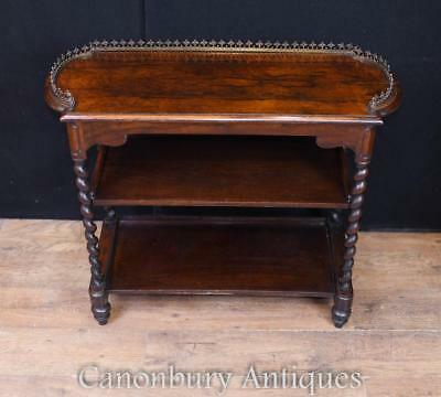 Antique Regency Rosewood Table Stand Barley Twist Legs