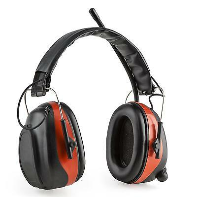 auna Jackhammer BT Casque antibruit Radio THF Bluetooth 4.0 AUX SNR 28dB rouge