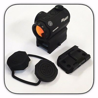 New Sig Sauer Romeo 5 Red Dot Sight 2 MOA MOTAC W/ 2 Risers Romeo5 SOR52001