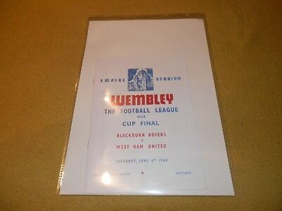 Blackburn Rovers v West Ham United - 1940 War Cup Final at Wembley Reprint