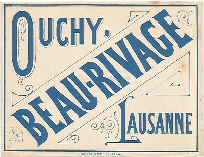 HOTEL BEAU RIVAGE luggage DECO label (LAUSANNE)