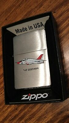 2009 Zippo lighter Military aircraft great art Goshawk mint in box