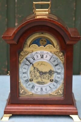 Beautiful Franz Hermle Bracket Clock With Moon Phase Retailed By H James