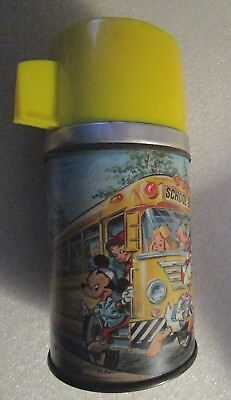 Aladdin Metal Mickey Mouse School Bus Metal Thermos