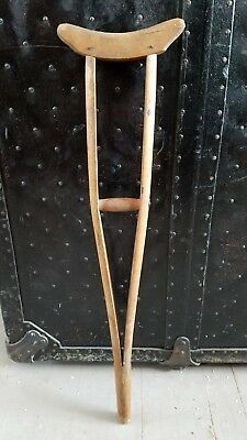 Antique Wooden Crutch  23 inch Child Size  Tiny Tim