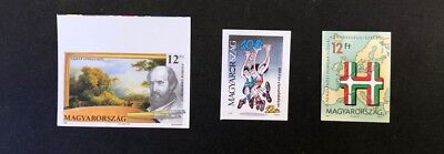 Hungary Scott No. 3277,3293,3294 MNH Imperforate Imperf Imp Stamps of 1991