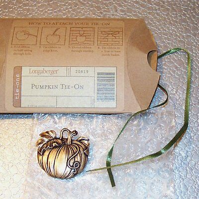 Longaberger Autumn Tote PUMPKIN Tie-on ~ Made in USA