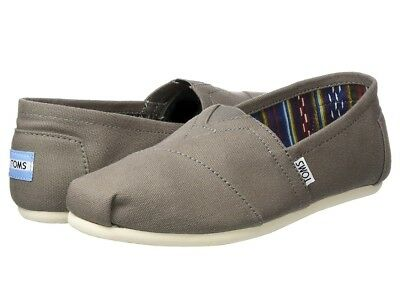Toms Classic Ash Canvas Shoes Women's MED Flats 10000871 Slip-on Size 9.5