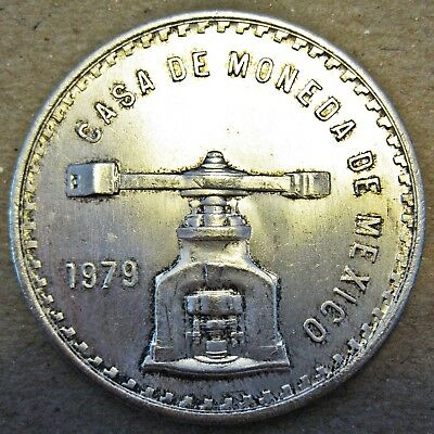 LARGE MEXICO 1979 92.5% SILVER ONE ONZA COIN (KM# M49b.4)