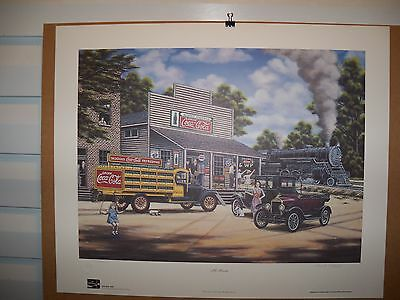 1996 Coca Cola Limited Art Print All Aboard Train Pamela C. Renfroe #1500/1500