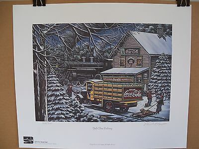 1999 Coca Cola Limited Edition Fine Art Print Signed Pamela C. Renfroe #750/750