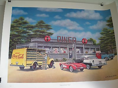 1991 Coca Cola Limited Edition Fine Art Print Signed Pamela C. Renfroe 1499/1500