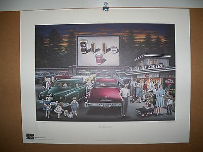 2000 Coca Cola Limited Edition Fine Art Print Signed Pamela C. Renfroe #750/750