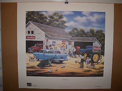 1996 Coca Cola Limited Edition Fine Art Print Signed Pamela C. Renfroe #750/750