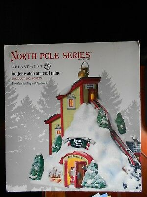 DEPT 56 NORTH POLE Village BETTER WATCH OUT COAL MINE NIB