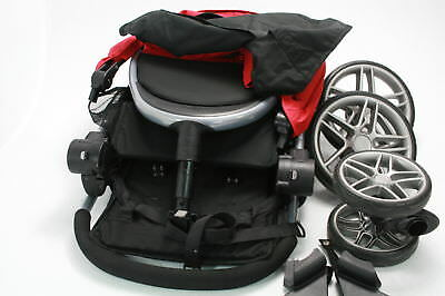 Britax 2017 B Agile Stroller and B Safe 35 Infant Car Seat Travel System Red