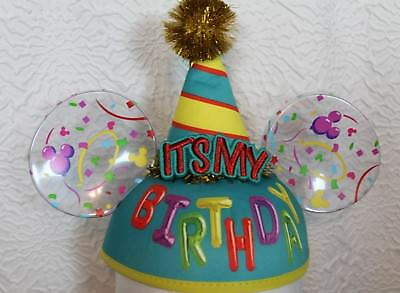 Disney Parks It's My Birthday Mickey Ear Hat Exclusive Earhat Disneyland NEW